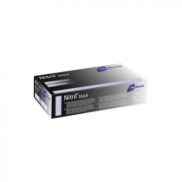 NITRIL® BLACK Untersuchungshandschuhe 100er Box Größe M