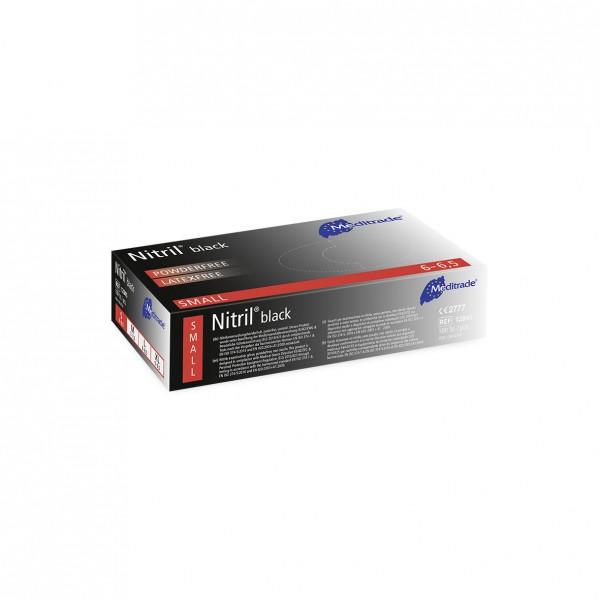 NITRIL® BLACK Untersuchungshandschuhe 100er Box Größe S